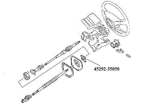 45292 35050 Seal Steering Column Shaft Through Firewall