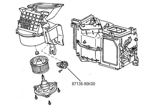 87138 90k00 Resistor 12volt Blower Motor Landcruiser 70