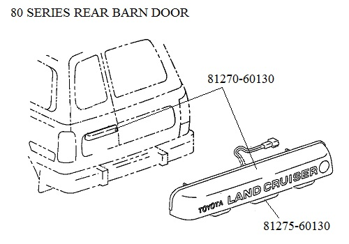 81275 60130 Handle Assembly Rear Barn Door Suitable For