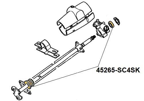 45265-SC4SK Upper Steering Column Service Kit Suitable for